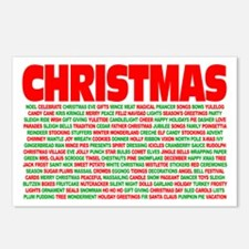 Christmas Words Postcards (Package of 8)
