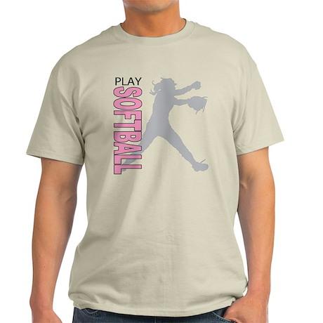 Girls Softball Light T-Shirt
