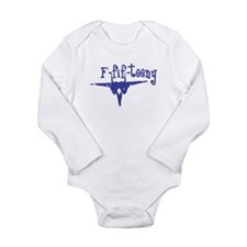 F-fif-teeny blue Long Sleeve Infant Bodysuit