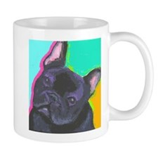 black frenchie cafe Mugs
