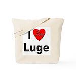 I Love Luge Tote Bag