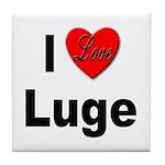 I Love Luge Tile Coaster