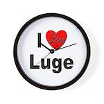 I Love Luge Wall Clock