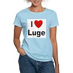 I Love Luge Women's Pink T-Shirt