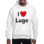 I Love Luge (Front) Hooded Sweatshirt