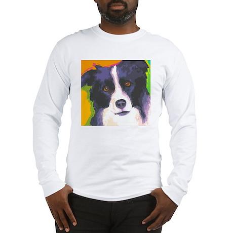 border collie cafe Long Sleeve T-Shirt