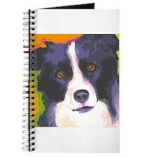 Cute Border collie dog Journal
