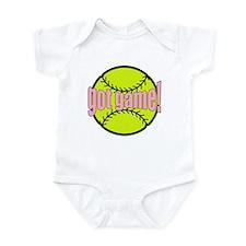 Girls Softball Infant Bodysuit