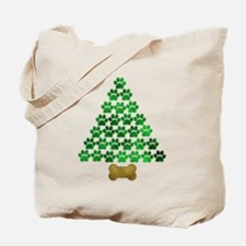 Dog's Christmas Tree Tote Bag