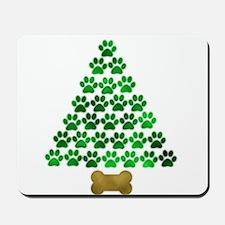Dog's Christmas Tree Mousepad