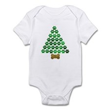 Dog's Christmas Tree Infant Bodysuit