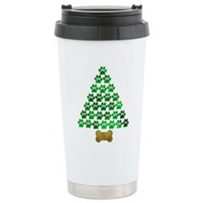 Dog's Christmas Tree Travel Mug