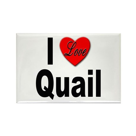 I Love Quail Rectangle Magnet (10 pack)