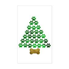Dog's Christmas Tree Decal