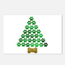 Dog's Christmas Tree Postcards (Package of 8)