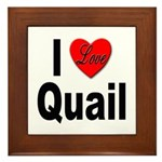 I Love Quail Framed Tile