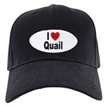 I Love Quail Black Cap