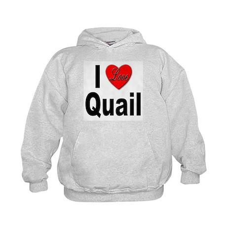 I Love Quail (Front) Kids Hoodie