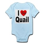 I Love Quail Infant Creeper