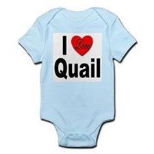 I Love Quail Infant Creeper