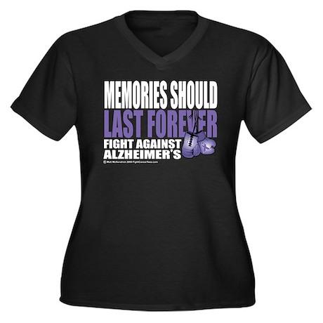 Memories Last Forever Women's Plus Size V-Neck Dar