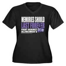 Memories Last Forever Women's Plus Size V-Neck Dar