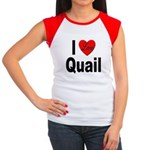 I Love Quail Women's Cap Sleeve T-Shirt