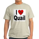I Love Quail Ash Grey T-Shirt
