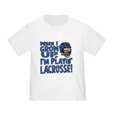 Grow Up Lacrosse Blue T