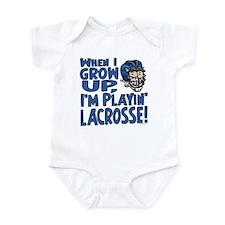 Grow Up Lacrosse Blue Infant Bodysuit