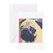 Blank Pug Greeting Card