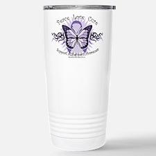 Alzheimer's Tribal Butterfly Travel Mug