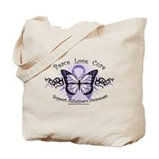 Alzheimer's Tribal Butterfly Tote Bag