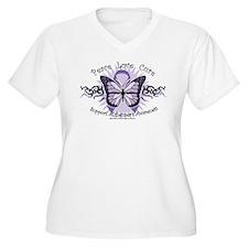 Alzheimer's Tribal Butterfly T-Shirt