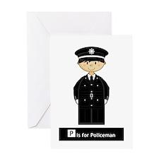Cute British Policeman Greeting Card