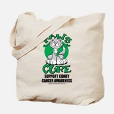 Kidney Cancer Paws For The Cu Tote Bag