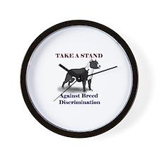 Take a Stand B&W Wall Clock