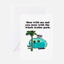 trailer park Greeting Cards
