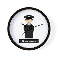 Cute British Policeman Wall Clock
