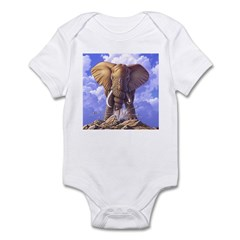 Elephant 3 Infant Bodysuit