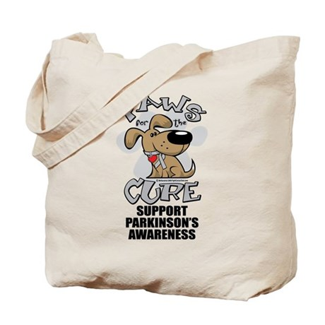 Parkinson's Disease Paws For Tote Bag