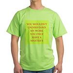 phd joke Green T-Shirt