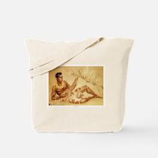 Male Hawaiian Ukulele Player Tote Bag