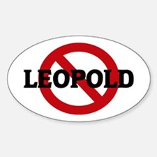 Anti-Leopold Oval Decal