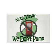 NJ We Don't Pump Rectangle Magnet
