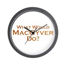 Cute Macgyver Wall Clock