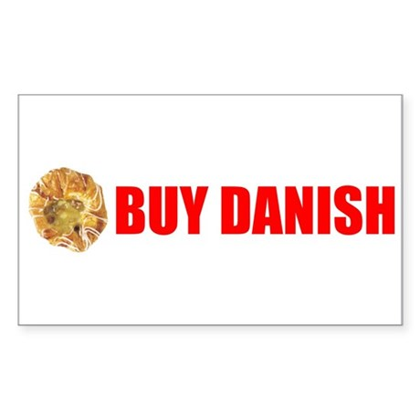 Buy Danish Pastry Rectangle Sticker