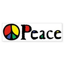 Flowing Peace Colour Bumper Sticker
