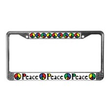 Flowing Peace Colour License Plate Frame