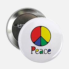 "Emphatic Peace Colours 2.25"" Button"